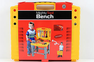 Mighty Kids Tool Bench Kit - Includes Tools and Battery Operated Drill - NEW