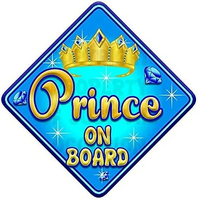 TORQ PRINCE Baby on Board Car Window Sign. Free Shipping