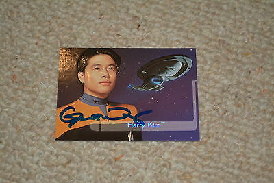 GARRETT WANG  signed Autogramm limitierte trading card In Person STAR TREK