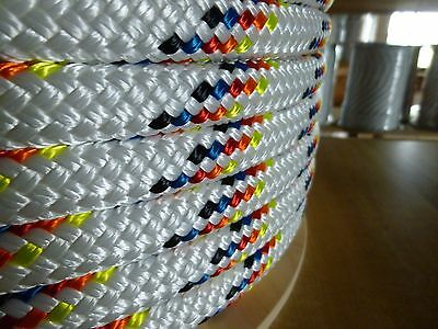 "1"" x 200 ft. Double Braid~Yacht Braid Polyester rope Spool.Made in the USA."