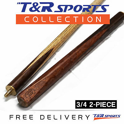 "1x 3/4 2-Piece HTY Ash Snooker Cue Pro 57"" for Pool Billiard Free Post"