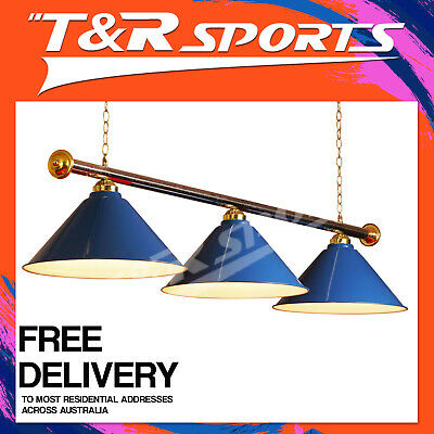 Blue Metal Pool Snooker Table Light Free Delivery