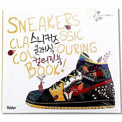 'Sneakers Classic Colouring Book' Creative Color Therapy Anti Stress Adult Art