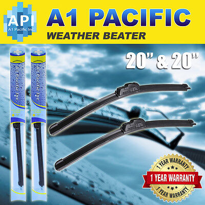 "All season Bracketless J-HOOK Windshield Wiper Blades OEM QUALITY 20"" & 20"" RAM"