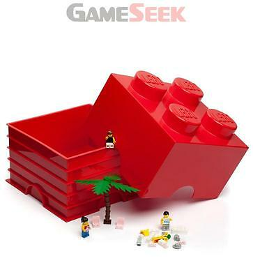Lego Storage Brick 4 Red - Toys Brand New Free Delivery
