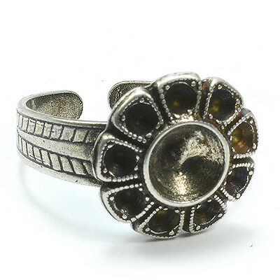 10 Piece Flower ring base for handmade jewelry making