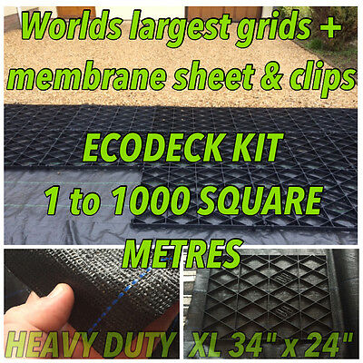 GRAVEL DRIVE GRIDS PARKING PROTECTION MAT +HD MEMBRANE ANTI FLOOD DRAINAGE em