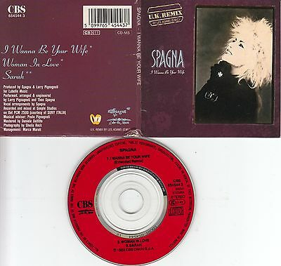 Spagna CD-SINGLE I WANNA BE YOUR WIFE  (c)   UK REMIX   / 3inch