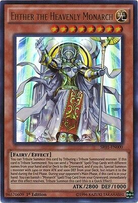 Ehther the Heavenly Monarch (SR01-EN000) - Ultra Rare - Near Mint - 1st Edition