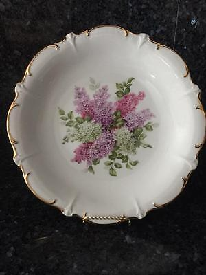 Schumann Arzberg E & R Golden Crown Germany Lilac 12'' Plate with scalloped edge