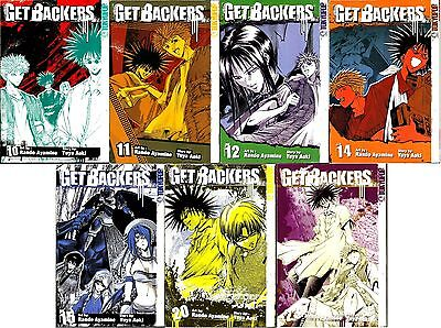 Get Backers Mega Manga Bundle.7 Volumes of Great Comedy/Action. New!