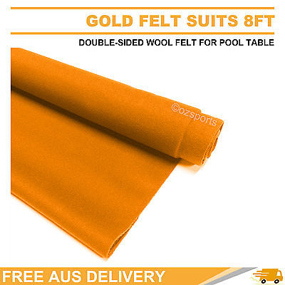 English Hainsworth Gold Pool Table Cloth Felt Kit For 8Ft Free Delivery
