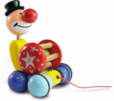 Grantoon The Clown Pull Toy by Vilac | Kids Toddler Toy Stacker NEW