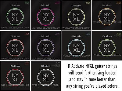 3 Packs of D'Addario NYXL Electric Guitar Strings with a choice of 3 gauges