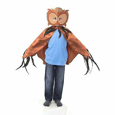 Kids Boys Brown Owl Fancy Dress Costume Book Day Halloween (3-8 yrs) Slimy Toad