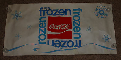 Vintage FROZEN Coca Cola FROZEN LOGO Poster Advertising Never Used