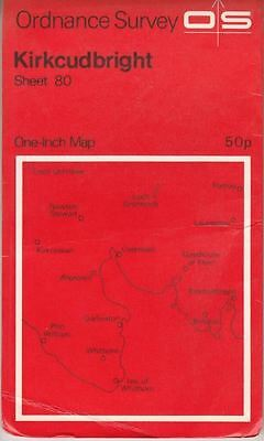Ordnance Survey One-inch Map of Great Britain. Sheet 80. Kirkcudbright