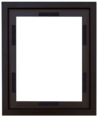 School Specialty Canvas Float Frame, 16 X 20 X 3/4 in, Gesso Black