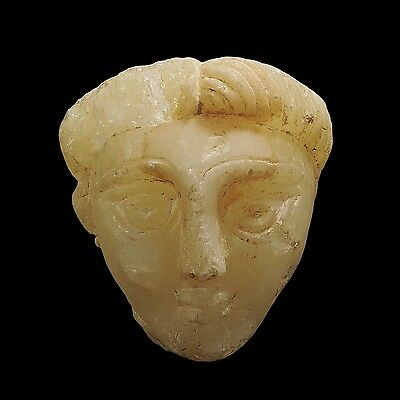 Aphrodite- Ancient South Arabian Alabaster Female Head