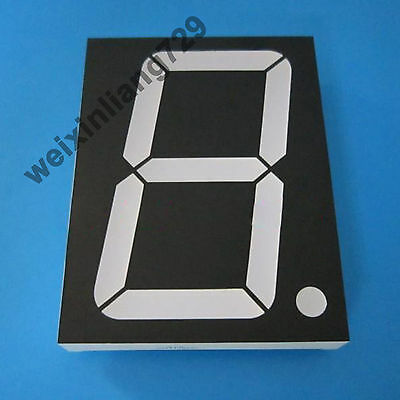 """1pcs 4 inch 1 digit led display 7 segment Common anode 阳 red 4"""" SM414001D"""
