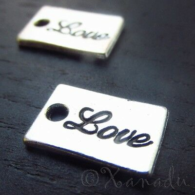50 Or 100PCs Hope Charms Wholesale Antiqued Silver Plated Pendants C0032-20