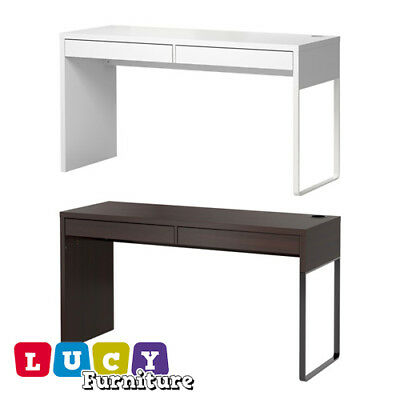Ikea Micke Desk 2 Drawers White Modern Table Computer Workstation Brand New