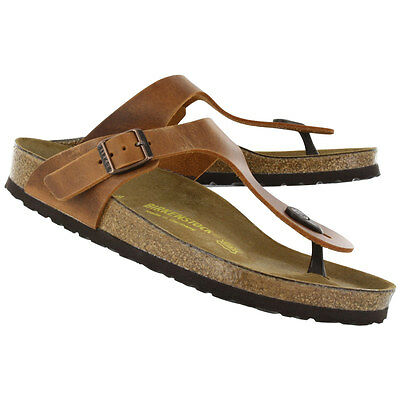 Birkenstock Oiled Leather Gizeh Antique Brown BNIB 743781 *Discontinued & Rare*