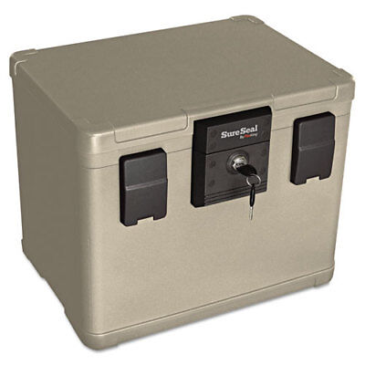 "Media File Fire Chest, 6 Cu Ft, 16""x12-1/2""x13"", Taupe FIRSS106"