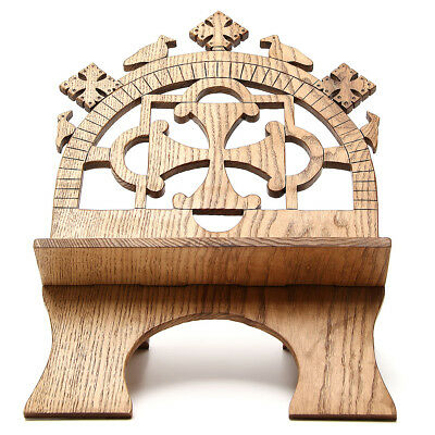 Book stand hand carved by the Bethlehem monks in white ash wood