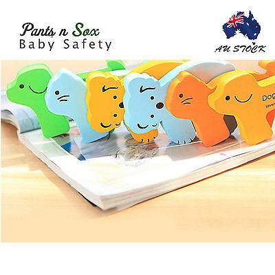 6 PCs Door Doggy Kitten Koala Finger Guard Baby Infant Safety Protector Stopper