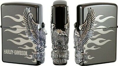 Zippo Oil lighter Harley Davidson HDP-02 Limited Edition Black Silver