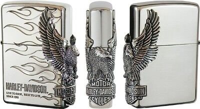 Zippo Harley Davidson HDP-04 Limited Edition Silver Side Metal Oil lighter