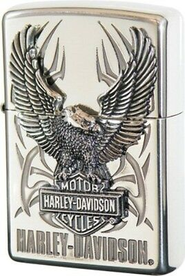 Zippo Oil lighter Harley Davidson HDP-07 Limited Edition Silver Eagle Big Metal