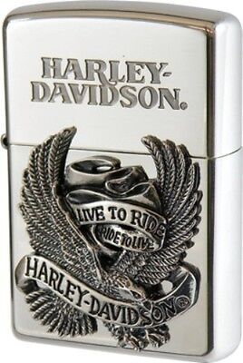 New Zippo Oil lighter Harley Davidson HDP-08 Limited Edition Silver Big Metal