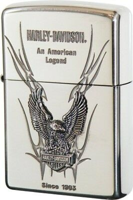 Zippo Oil lighter Harley Davidson HDP-10 Limited Edition S Metal Silver Eagle