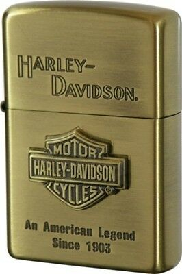 New Zippo Oil lighter Harley Davidson HDP-11 Limited Edition S Metal Gold Logo