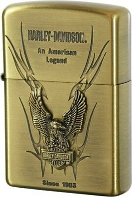 New Zippo Oil lighter Harley Davidson HDP-12 Limited Edition S Metal Gold Eagle