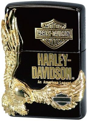 Zippo Oil lighteHarley Davidson HDP-14 Limited Edition Black Gold Plated  Eagle