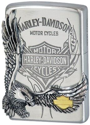 New Zippo Oil lighter Harley Davidson HDP-16 Limited Edition Silver Brass