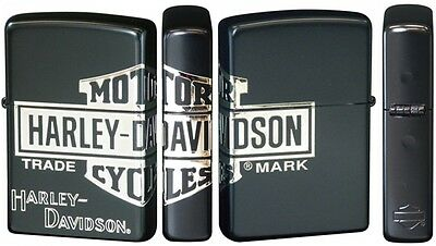New Zippo Harley Davidson HDP-30 Limited Edition Black x Silver Logo Oil lighter