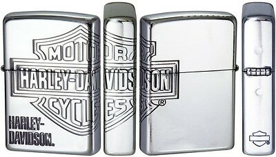 Zippo Oil lighter Harley Davidson HDP-33 Limited Edition Silver 3 face LOGO Mark