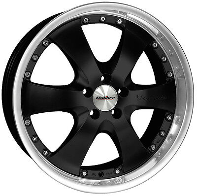 """4 X 20"""" Calibre Voyage Alloy Wheels Black With Polished Dish Vw Transporter T5"""
