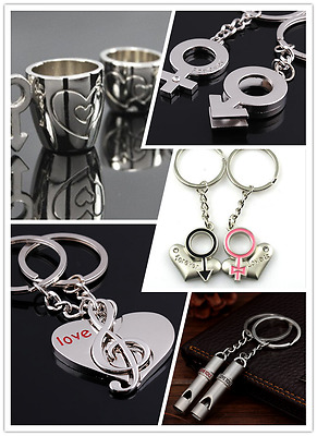 3D Metal Special Couple Lover Keychain Keyring Valentine's Birthday Gift