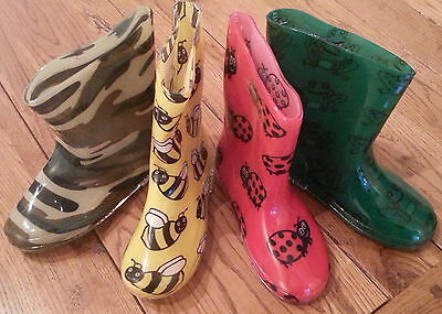 Infants & Childrens WELLIES Frog, Bumble Bee, Ladybird, Camouflage, Size Choice.