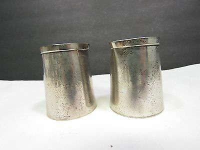Pair of Soldered Silver Creamers COOK'S
