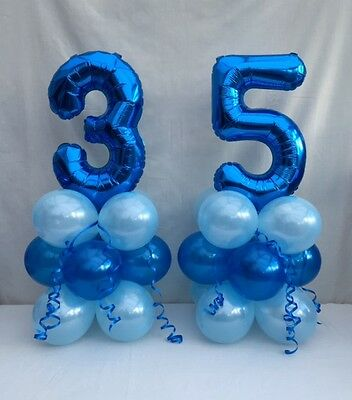 35th Birthday Balloon Kitblue Table Centre Display Party