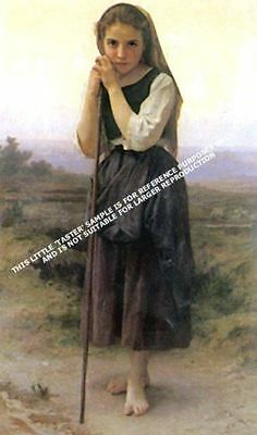 Little Shepardess by William A Bouguereau Artwork by Selby Prints
