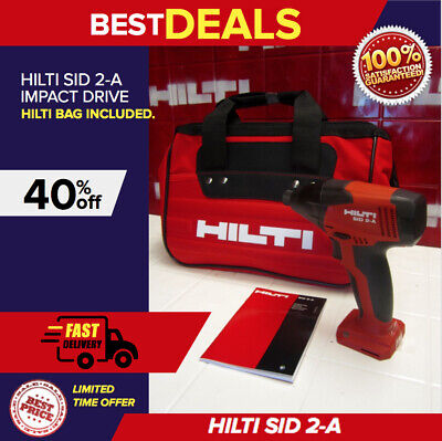 Hilti Sid 2-A Impact Driver With Hilti Bag, New Model, Lightweight, Fast Ship