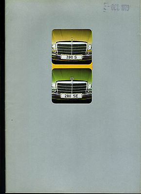 (113B) Catalogue Mercedes Benz 280S 280Se