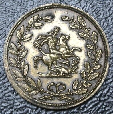 1902 EDWARD VII & QUEEN ALEXANDRA CROWNED TOKEN - King George Slaying the Dragon